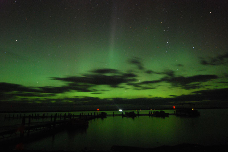 Northern Lights at main resort dock